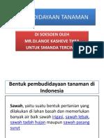 Pembudidayaan Tanaman di Indonesia