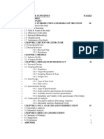 General Format of Contents