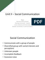 Unit II - Social Communication