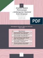 Analisa Sistem Perencanaan dan Pembangunan Denpasar.pptx