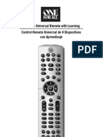 Instruction Manual One for All 8 Device Remote