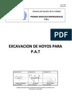 Excavacion de Hoyos Para PAT - REV 01