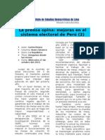 Mejoras Necesarias en el Sistema Electoral de Perú