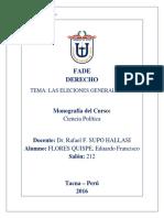 MONOGRAFÍA DE LAS ELECCIONES 2016 (CIENCIA POLÍTICA).docx