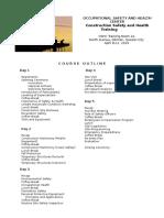 Cosh Course Outline