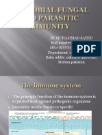 Microbial Fungal and Parasitic Immunity