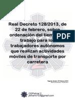 106 Rd 128 2013 Tiempos Trabajo Autonomos Transporte