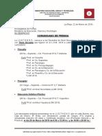 Comunicado de Prensa 22-03-19