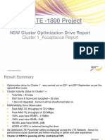LTE NSN Cluster Optim Drive Report