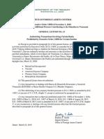 Transacciones prohibidas con Bandes tras sanciones del Departamento del Tesoro de EEUU