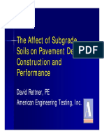 Affect of Subgrade Soils on Pavement Design