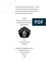 UPAYA POLRI DALAM MENSOSIALISASIKAN UNDANG – UNDANG NOMOR 22 TAHUN 2009  DALAM RANGKA MEMINIMALISIR TERJADINYA TINDAK PIDANA PELANGGARAN LALU LINTAS ( STUDI KASUS DI POLRESTA MALANG )