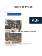 Test Methods for Driven Piles