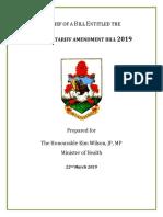 Customs Tariff Amendment Bill (Sugar Tax) Second Reading Brief 2019