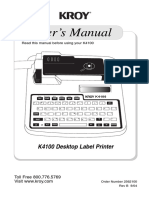 Manual rotuladora Kroy K4100