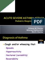 EMD2 - K8 - Acute Severe Asthma Attack