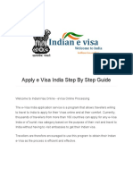 Apply e Visa India Step by Step Guide