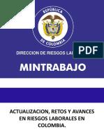 Actualizacion, Avances y Retos en Riesgos Laborales 2016 Dr. Carlos Luis Ayala Caceres
