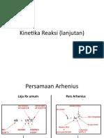 Kinetika Reaksi (lanjutan)