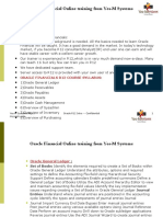 Oracle r12 Finance Course Contents
