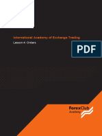 International Academy of Exchange Trading. Lesson 4 Orders