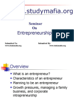 MBA Entrepreneurship Ppt