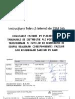 E.on ITI-SSM 34b - Comutarea Fazelor Pe Plecarile Din TDRI Ale PT Si CD in Scopul Realizarii Corespondentei Fazelor Sau Echilibrarii Sarcinii Pe Faze -Fara Scoatere de Sub Tensiune