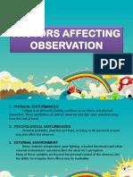Factors Affecting Observation