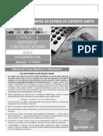 Auditor de Controle Externo - Área Engenharia Civil