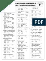 Alg - 1º - Expresiones Algebraicas II