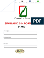 Simulado 01 - Port - 5º Ano - (Blog Do Prof. Adonis)
