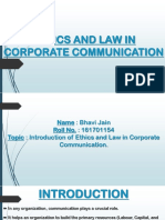 Ethics and Law in Corporate Communication