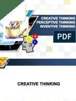 Module 2 - Creative, Perceptive, Inventive