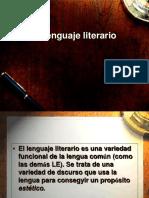 Lenguaje Literario vs no Literario