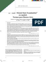 El Mini - Mental State Examination en Es