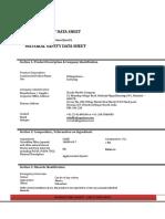 Kalingastone Quartz Material Safety Data Sheet