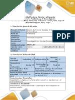 Guía de actividades y rúbrica de evaluación - Paso 3 - Antecedentes, Marco teórico (Marco conceptual) y objetivos de la Investigación. docx.docx