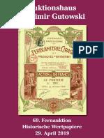 Katalog der 69. Gutowski-Auktion (Historische Wertpapiere)