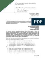 La Comisión de Evaluacion y Promoción Como Una Clinica Pedagógica