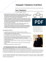 Introduction to Inorganic Chemistry Acid-Base Chemistry