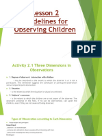 Lesson 2 Guidelines for Observing Children