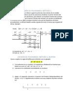División y Factorización de Polinomios