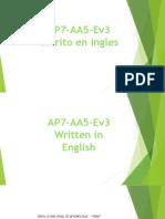 AP7 AA5 Ev3 Escrito en Ingles