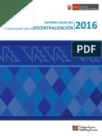 Informe Anual de Descentralizacion 2016 - Version Resumida