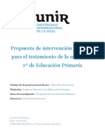 Propuesta de intervención para el tratamiento 1 de Educación primaria