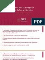Iniciativa Abrogación de La Reforma Educativa 2019