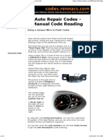 Auto Repair - How to Read Codes Yourself Without Scan Tools