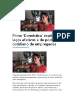 Filme Doméstica Expõe Laços Afetivos e de Poder No Cotidiano de Empregadas