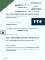 Proyecto de Ley 2732-Colegio Profesional de Gestión Pública y Desarrollo Social