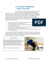 Lower Extremity Mobilizations Using a Foam Roll